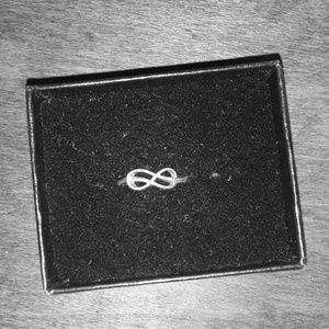 Silver Infinity Sign Ring